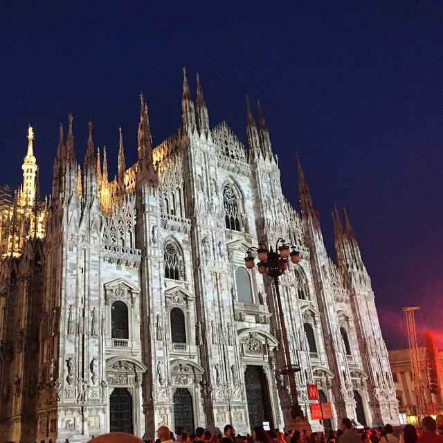 A very quick stop in Milan for the 2015Expo